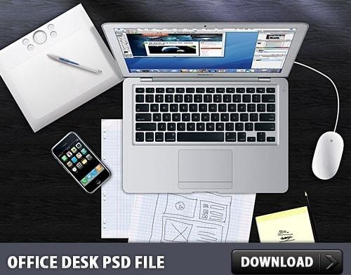 Modern Office Desk Illustration