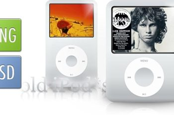 Free Old Generation iPod Designs Mockup in PSD
