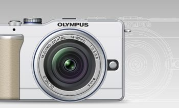 Free Old Olympus Mirrorless Model Mockup in PSD