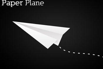 Free Simple Paper Plane Design Mockup in PSD