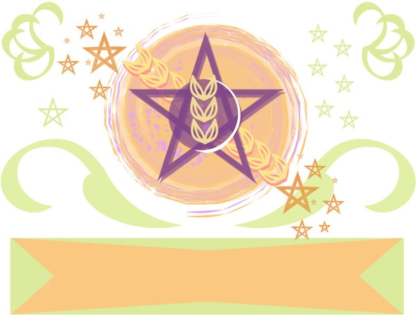 Pentacle Wheat Style Banner
