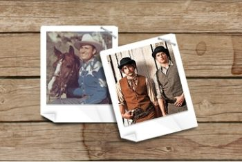 Free Old Western Polaroid Photography Mockup