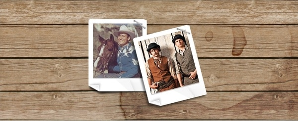 Old Western Polaroid Photography