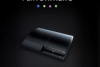 Free Dark Sony PlayStation Mockup in PSD
