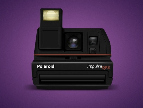 Old Polaroid Impulse Camera