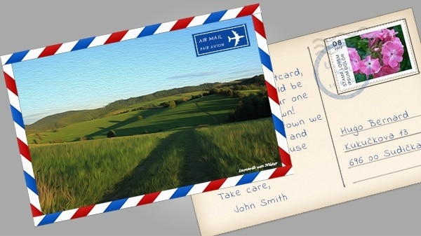 Simple Beautiful Postcard