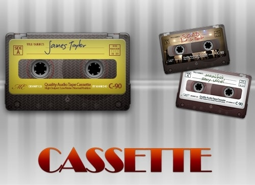 Old Vintage Cassette Tapes