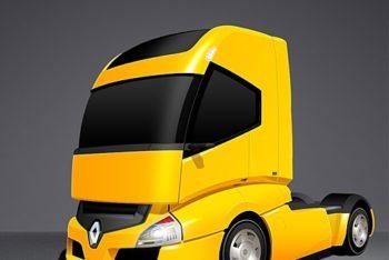 Free Advanced Futuristic Truck Mockup in PSD