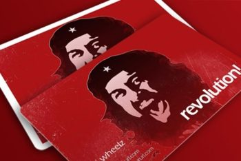 Free Revolution Business Card Mockup in PSD