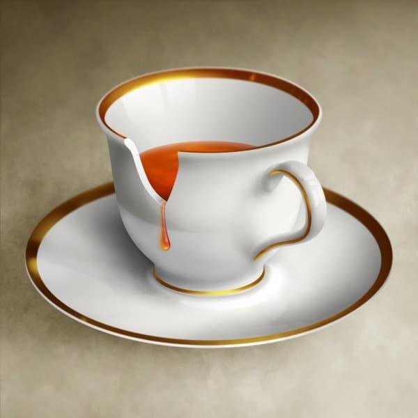 Chipped Coffee Mug