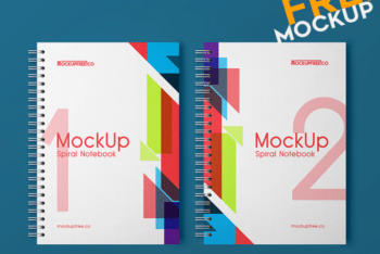 Create Awesome Spiral Book Design with This Free PSD Mockup