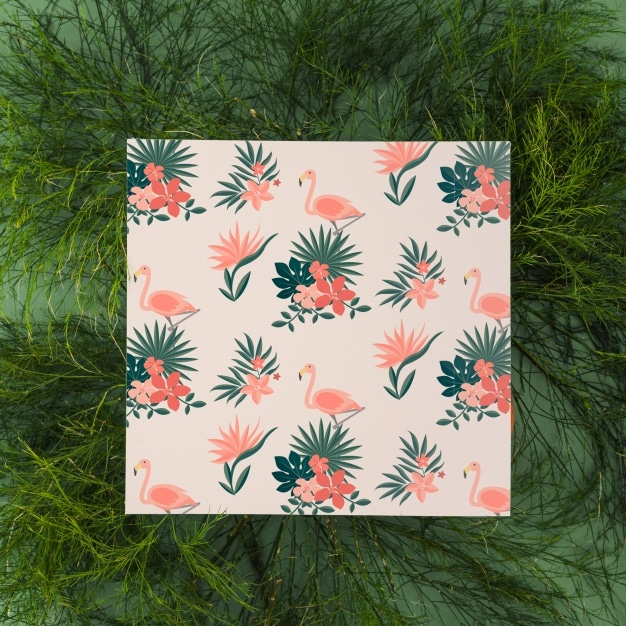 Leafy Square Greeting Card