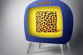 Free Cute Fancy TV Design Mockup in PSD