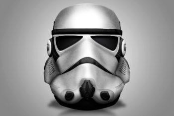 Free Storm Trooper Helmet Design Mockup in PSD