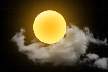 Free Mysterious Cloudy Sun Mockup in PSD