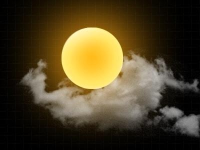 Mysterious Cloudy Sun