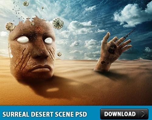 Surreal Desert Ruins