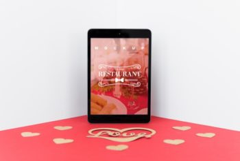 Free Romantic Restaurant Date Plus Tablet Mockup