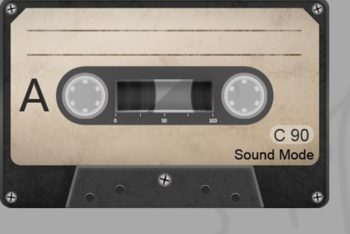 Free Old Weathered Cassette Tapes Mockup in PSD