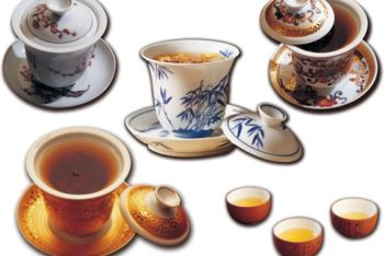 Free Fancy Chinese Teacups Mockup in PSD