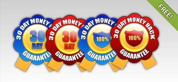 Money Back Guarantee Seals