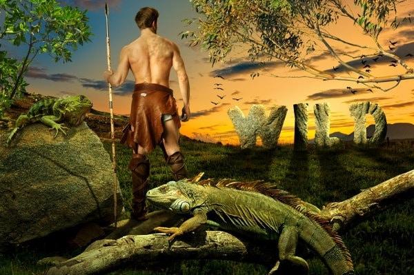 Primal Man Wild Concept