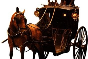 Free Horse Drawn Carriage Mockup in PSD