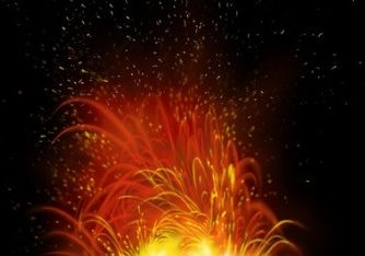 Free Volcanic Explosion Scene Mockup in PSD
