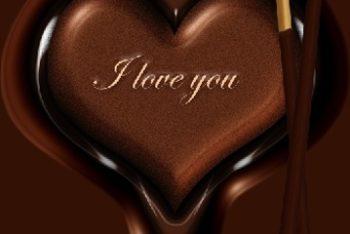 Free Romantic Exquisite Chocolate Mockup in PSD