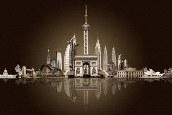 Free Futuristic Urban Architecture Mockup in PSD