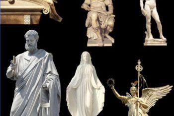 Free Beautiful Figure Sculptures Mockup in PSD