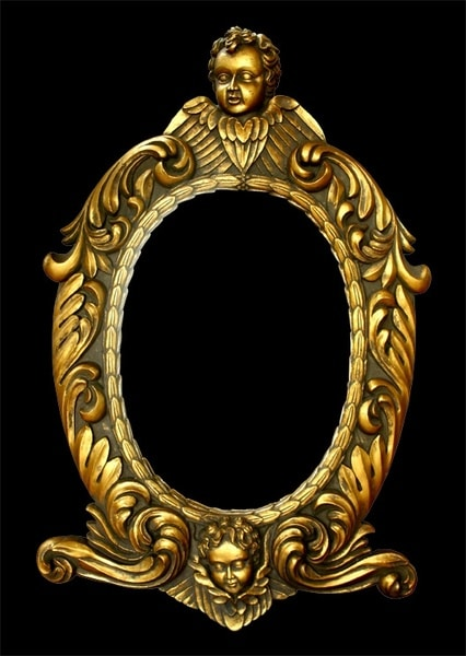 Golden European Picture Frame