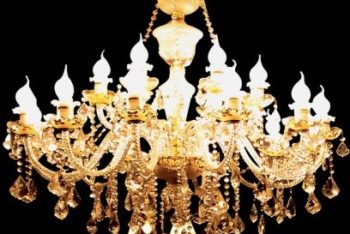 Free Gorgeous European Chandelier Mockup in PSD