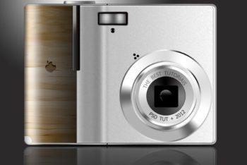 Free Simple Polaroid Camera Mockup in PSD