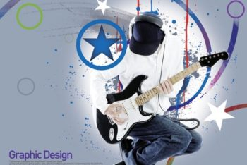 Free Modern Rockstar Design Mockup in PSD