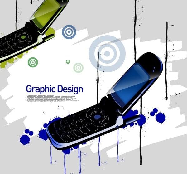 Flip Phone Art Concept