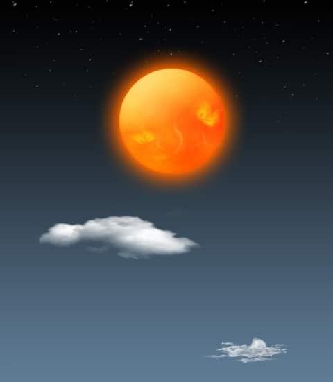 Realistic Layered Sun