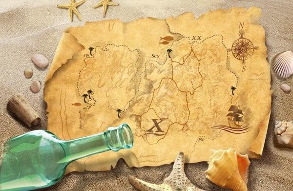 Old Stylish Treasure Map