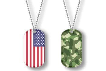 Free Cool Patriotic Dog Tag Design Mockup