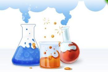 Free Chemistry Flask Vector Mockup in PSD