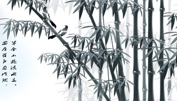Free Chinese Bamboo Painting Mockup in PSD