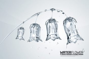 Free Creative Water Plant Art Mockup in PSD