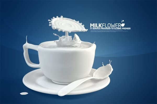 Creative Milk Art