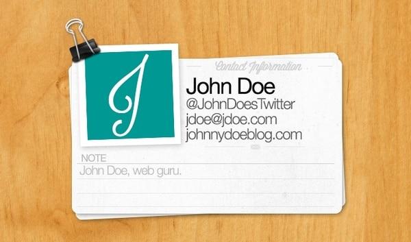 Web Contact Card