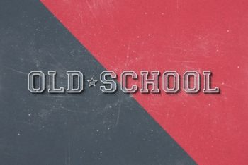 Free Old School Wort Art Mockup in PSD