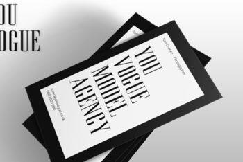 Free Vogue Business Card Design Mockup in PSD
