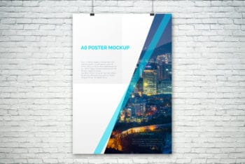 A0 Sized Poster PSD Mockup for Free