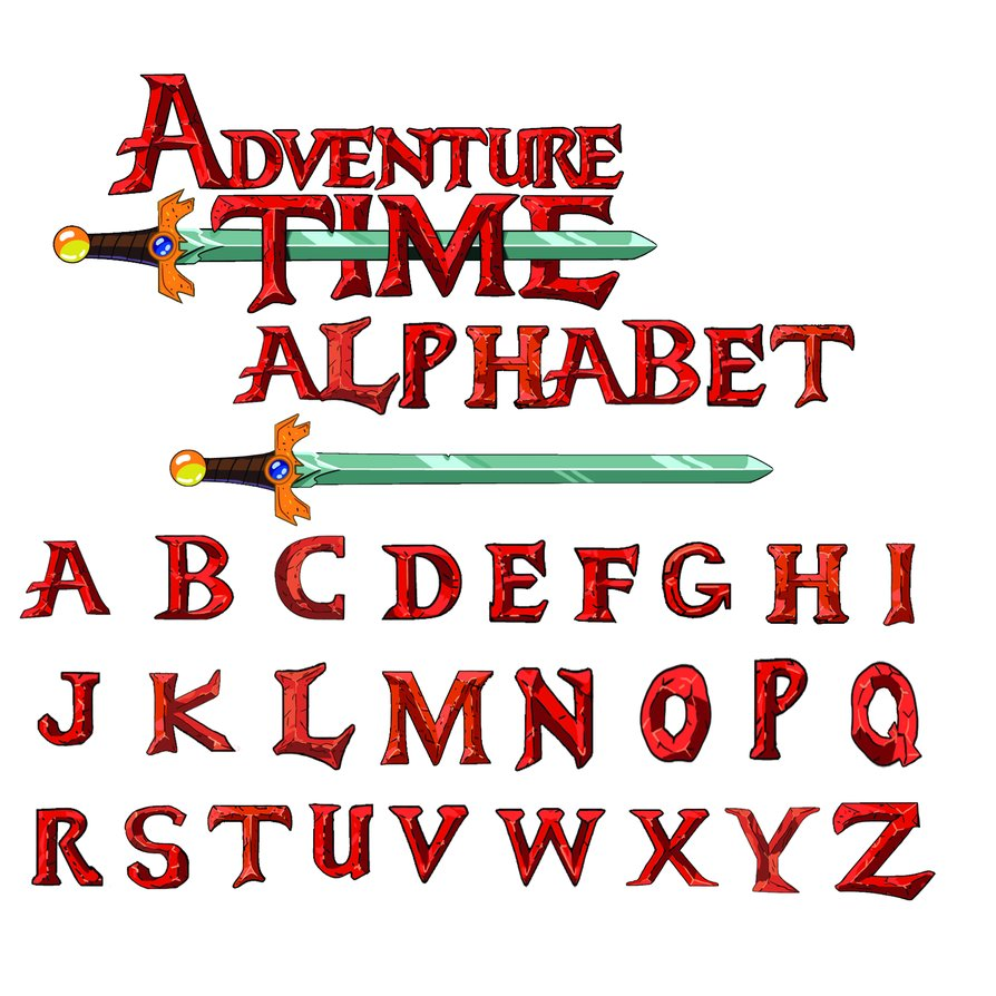 Adventure Time Lettering