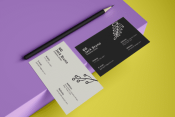 Modern Business Card Design PSD Mockup for Free