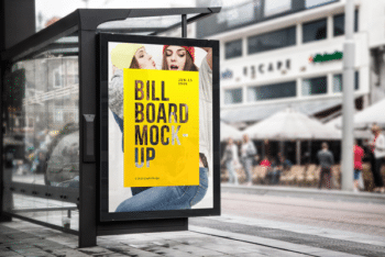 Bus Stop Billboard PSD Mockup for Awesome Billboard Advertising